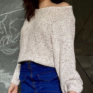 PacSun Sweaters - beige/cream colored knit sweater